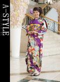 ◆成人式・正装に!◆ブランド A-STYLE 仕立て上り 振袖フルセット●R02