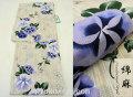 夏祭りや花火大会に!2017年新作 夏物 女性用 綿麻 仕立て上り 高級浴衣(変り織り)◆生成り系◆7911