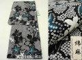 夏祭りや花火大会に!2017年新作 夏物 女性用 綿麻 仕立て上り 高級浴衣(変り織り)◆黒色系◆7921