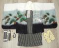 七五三 新作 5歳男の子着物フルセット◆白色系 兜に龍◆ngt8366※レンタルも可