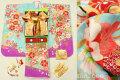 七五三 正絹7歳用女の子高級着物フルセット◆水色系 桜に鼓◆sdyuri1022