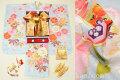 七五三 2020年新作 7歳用女の子高級着物フルセット◆薄水色系 鞠に桜◆【さざんか】1032-004
