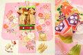 七五三 2020年新作 7歳用女の子高級着物フルセット◆ピンク色系 鞠に桜◆【さざんか】1035-002