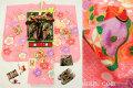 七五三 2020年新作 正絹7歳用女の子高級着物フルセット【ハマナス】◆しぼり柄 ピンク色系 梅に鼓(金駒刺繍入)◆1042-846