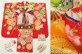 七五三 正絹7歳用女の子高級着物フルセット◆赤色系 古典桜に鞠◆sdyuri1055※レンタルも可