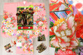 七五三 正絹7歳用女の子高級着物フルセット◆ピンク系 金駒刺繍 御所車◆sdyuri1058※レンタルも可