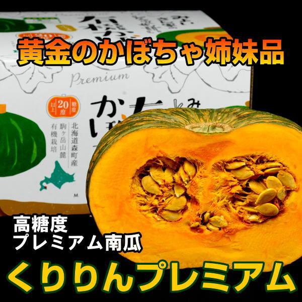 高糖度かぼちゃ くりりんプレミアム 1玉 (カード・代引不可)