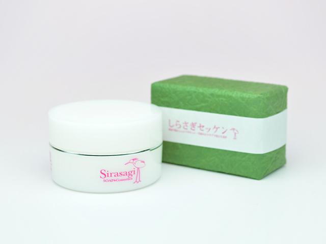馬油の洗顔と保湿の基礎セット  しらさぎセッケンとしらさぎクリームのお得なセット 【送料無料】