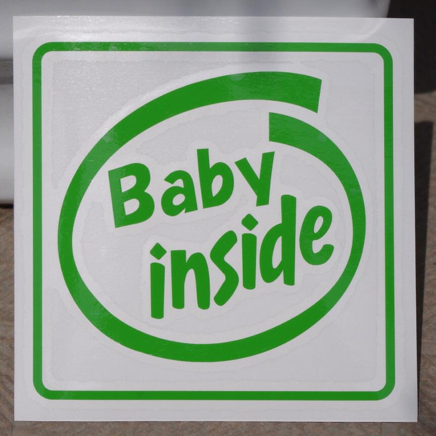 SD-1016 オリジナルステッカー Baby inside