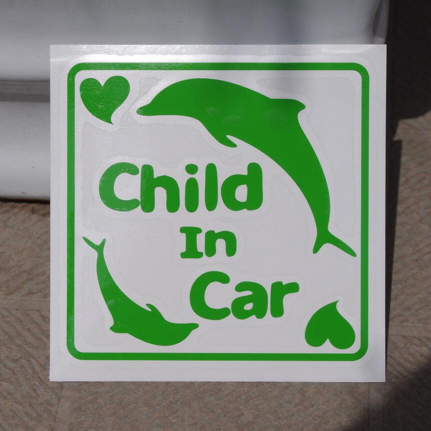 SD-1026 オリジナルステッカー Child In Car イルカ