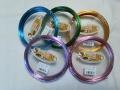 5色カラーワイヤー2.0ミリx10m