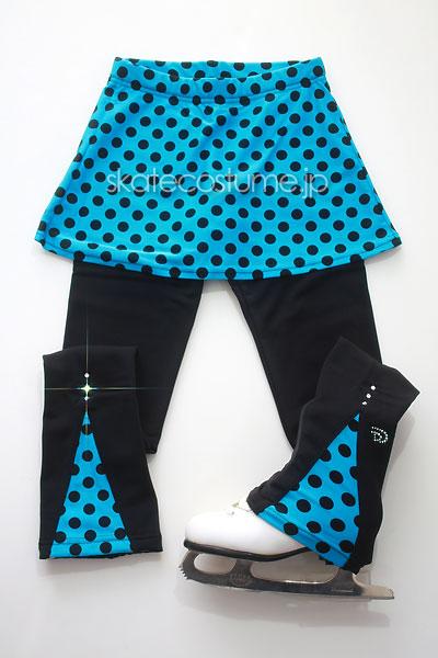 フィギュアスケート用スカート付きレギンス