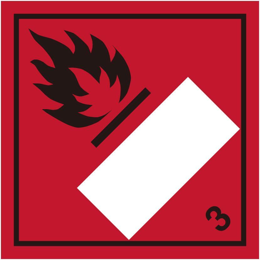 等級3 引火性液体類 標識(コンテナ・国連番号表示用)〔印字代別〕