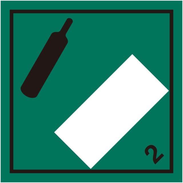 等級2.2 非引火性非毒性高圧ガス 標識(コンテナ・国連番号表示用)〔印字代別〕