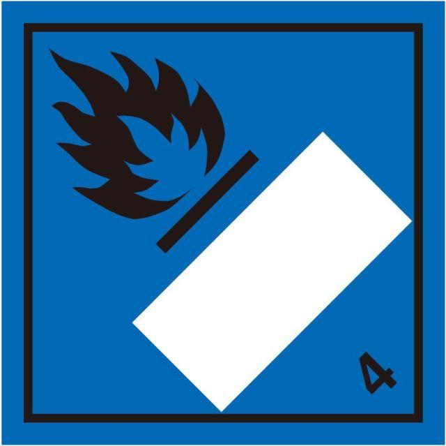 等級4.3 水反応可燃性物質 標識(コンテナ・国連番号表示用)〔印字代別〕
