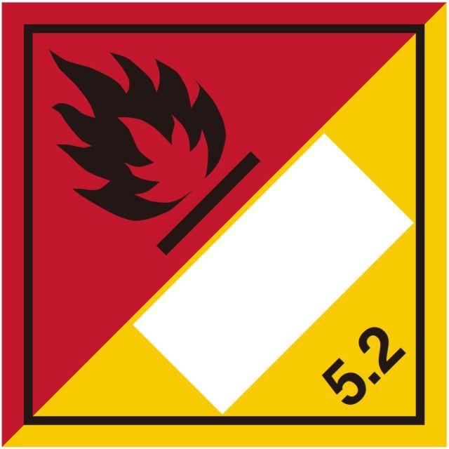 等級5.2 有機過酸化物 標識(コンテナ・国連番号表示用)〔印字代別〕