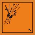 副次危険性等級1 火薬類 副標識(コンテナ用)