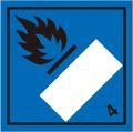 等級4.3 水反応可燃性物質 標識(コンテナ・国連番号表示用)