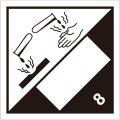 等級8 腐食性物質 標識(コンテナ・国連番号表示用)