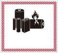 リチウム電池用表示
