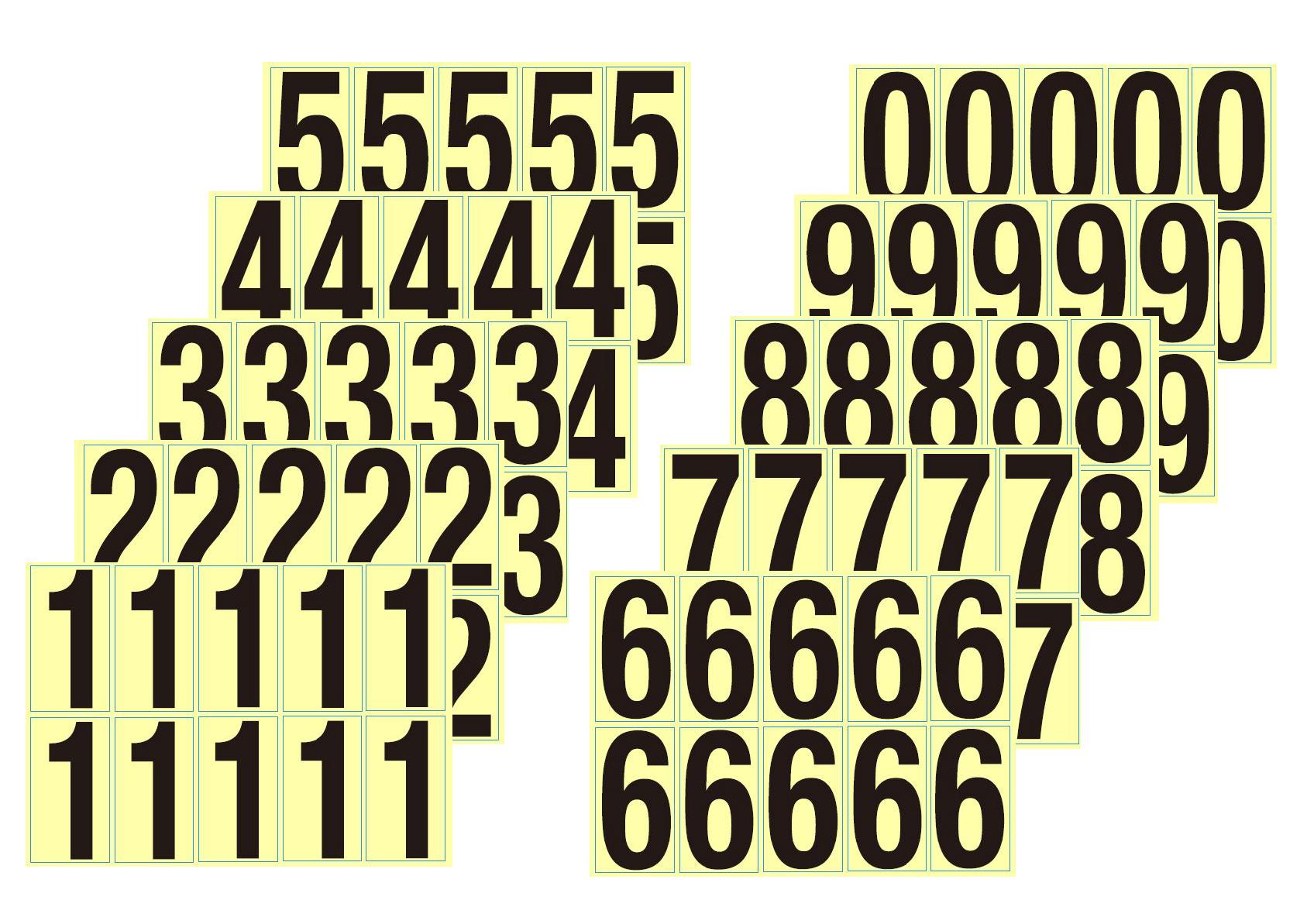 数字シール(0-9セット)
