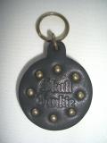 Skull Junkie LEATHER/丸型スタッズキーホルダー