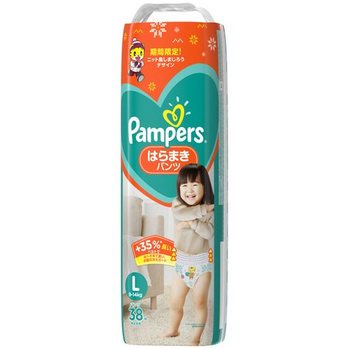 【送料無料】パンパースはらまきパンツL38枚×4個入(1ケース)