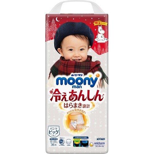【送料無料】ムーニーマン 冷えあんしん男女共用ビッグ 36枚×4個入(1ケース)