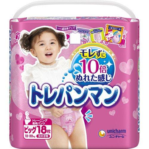 【送料無料】トレパンマン 女の子用 ビック 18P×6個入(1ケース)