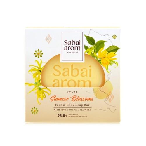 サバイアロム(Sabai-arom) ロイヤル サイアミーズ ブロッサムズ フェイス&ボディソープバー (石鹸) 100g