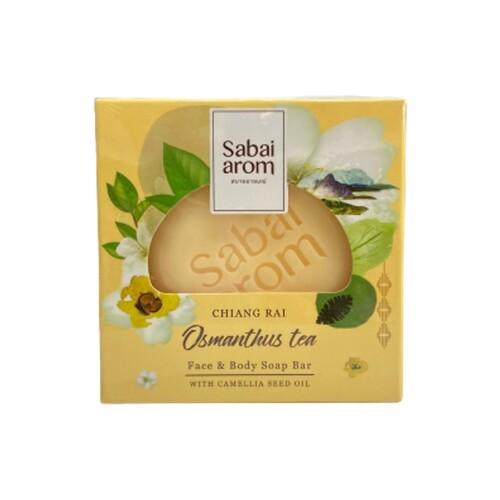 サバイアロム(Sabai-arom) オスマンサスティー フェイス&ボディソープバー (石鹸) 100g
