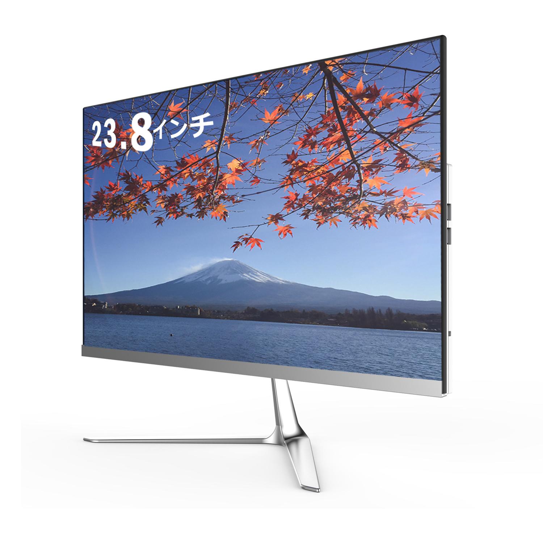 【送料無料】 skynew 一体型デスクトップパソコン  23.8型曲面 最新規格WIFI 6対応 (第8世代i7-8565U 4.6GHz/メモリ:DDR4 8GB/SSD 256GB/Windows 10 Home/超狭額ベゼル) W2 新品