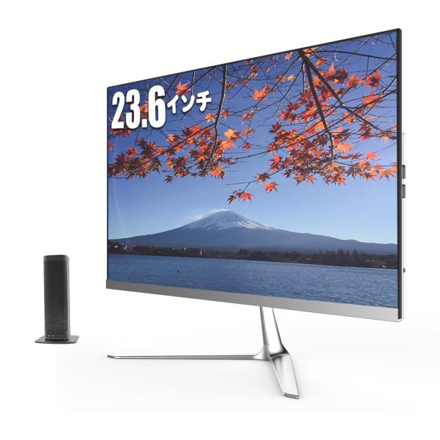 【送料無料】 skynew 一体型デスクトップパソコン  23.6型 (第7世代i7-7700HQ 2.8GHz/メモリ:DDR4 8GB/SSD 256GB/1TB HDD/Windows 10 Home/超狭額ベゼル) K2 新品