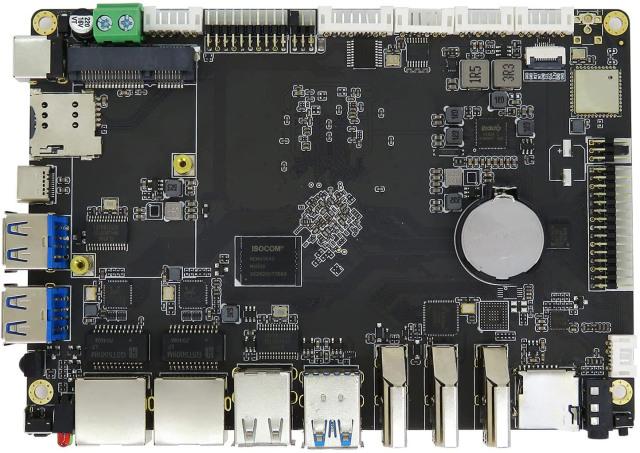 【送料無料】skynew シングルボードコンピュータ マザーボード Rockchip RK3399プロセッサ搭載 4GB LPDDR4 / 64GB eMMC / Ubuntu18.04初期搭載 / Android7.1 Wi-Fiアンテナ+電源アダプタ+OSインストール用ケーブル付属 H3399
