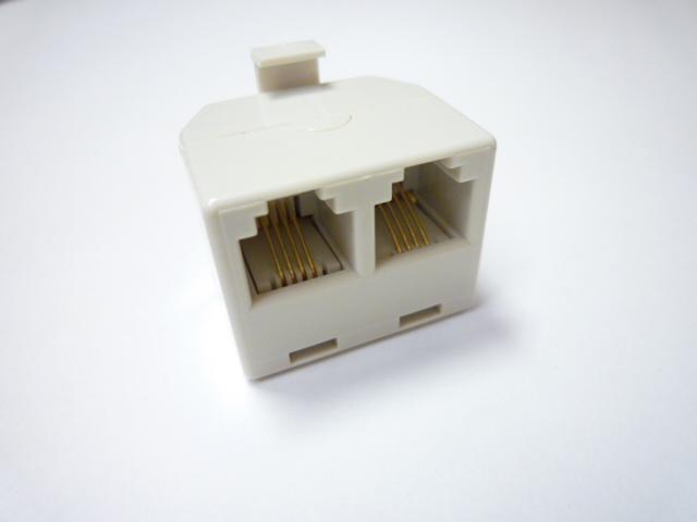 スカイニー ≪6極2,4芯兼用≫ ダブルモジュラージャック DMJ-4C