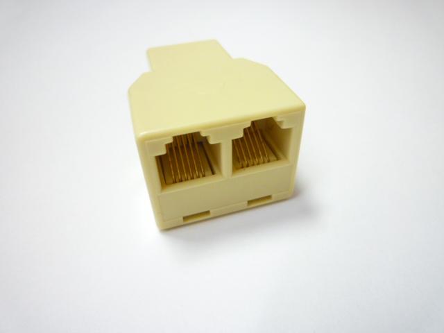 スカイニー ≪6極6芯≫ ダブルモジュラージャック DMJ-6CJ