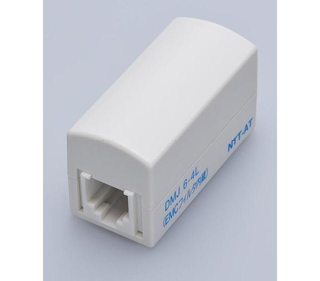 八光電機製作所 ≪6極4芯≫ EMCノイズフィルタ内蔵(AM放送波等) モジュラー中継コネクタ DMJ6-4L