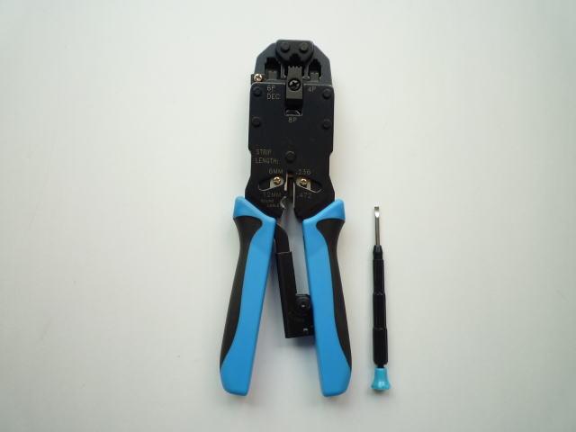 【送料無料】 スカイニー ≪4極4芯・6極2,4,6芯・8極8芯≫ モジュラープラグ圧着工具(プロ用) ラチェット付 HT-2008AR