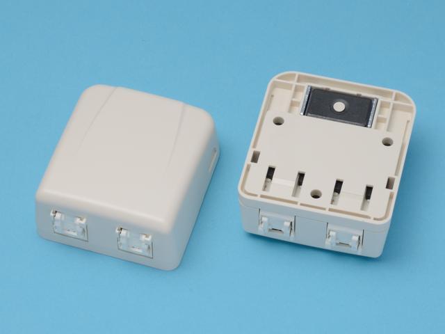 八光電機製作所 LAN用ローゼット ≪ CAT5e対応 2口タイプ ≫ LMJ-NT2-5e
