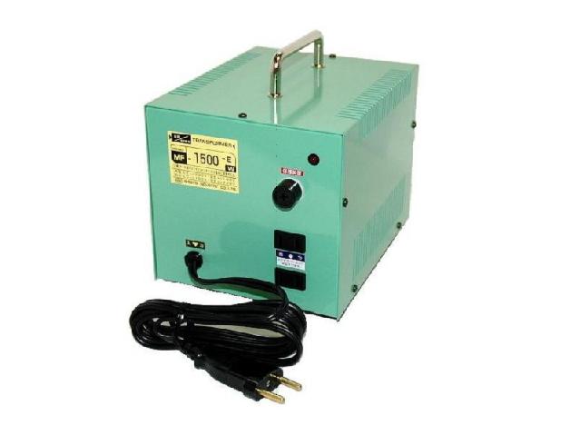 オーストラリア・ソロモン諸島などAC240V⇔日本AC100V/出力容量1500W/MF-1500EX/アップ・ダウン トランス
