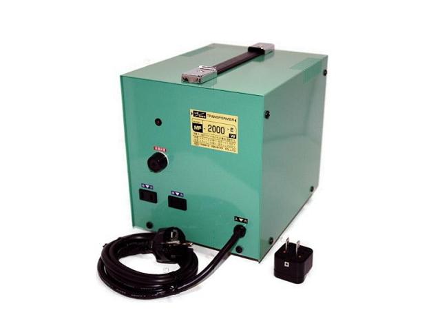オーストラリア・ソロモン諸島などAC240⇔日本AC100V/出力容量2000W/MF-2000EX/アップ・ダウン トランス