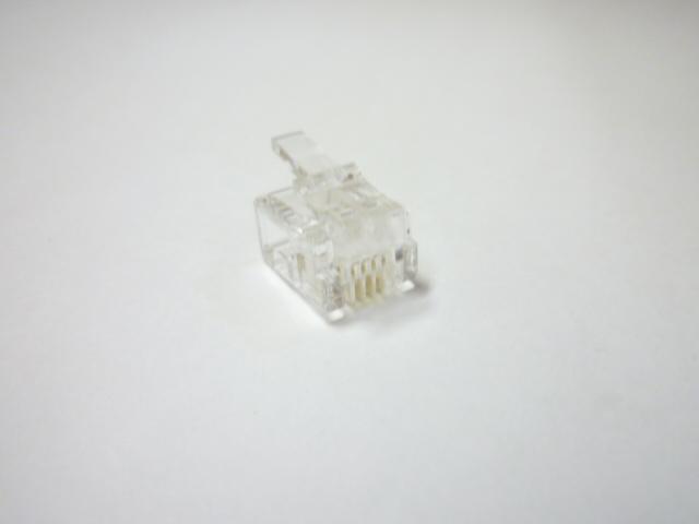 スカイニー ≪6極4芯≫ モジュラープラグ 【 1,000個入 】 MP-4C