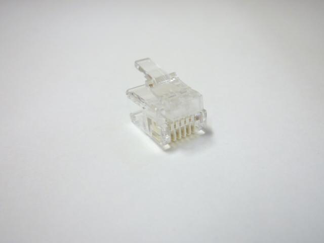 スカイニー ≪6極6芯≫ モジュラープラグ 【 100個入 】 MP-6C