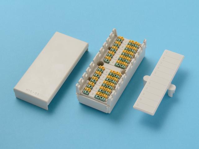 八光電機製作所 10回線用 3端子 小型端子板 N10-3S