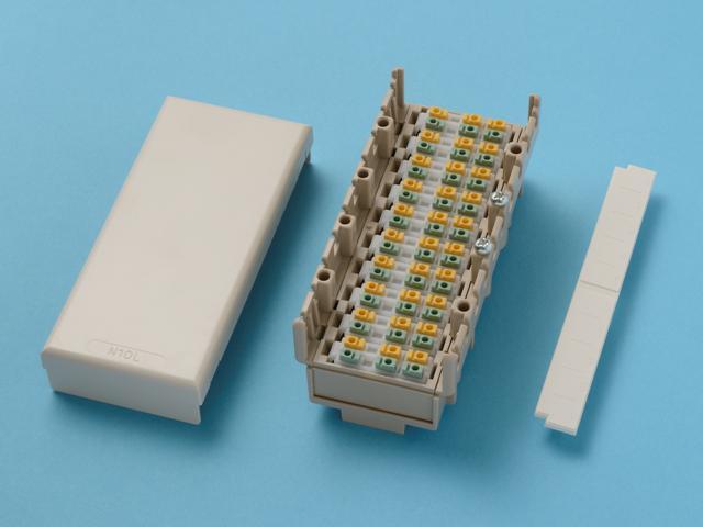 八光電機製作所 10回線用 3端子 端子板 N10L