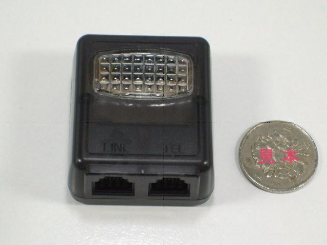 【着信表示】 ナカ電子 高輝度LED ベル・フラッシャー NT-510W IP電話対応 ≪ 6極2芯 スケルトンタイプ ≫