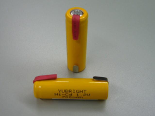 【送料無料 メール便選択時】 ニカド電池 単3形 タブ付 1.2V 700mAh ≪ 4本パック ≫