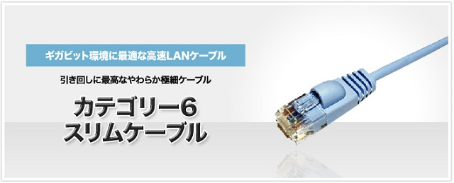 ミヨシ CAT.6 LANケーブル ≪ スリムタイプ 3m ≫ LAN-TS603 エコパッケージ