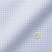 メンズパターンオーダーシャツ THOMAS MASON ホワイト×ブルーチェック 【S71EXMW07】