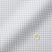 メンズパターンオーダーシャツ THOMAS MASON ホワイト×グレーチェック 【S71EXMW08】